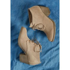 45286726050 Block Heel Bootie ( 59) ❤ liked on Polyvore featuring shoes