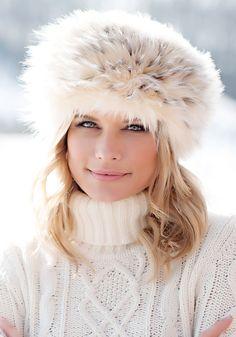 6c2dc2ab044 Arctic Leopard Russian Faux Fur Hat