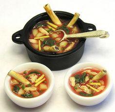 Korean pork bone soup #food, miniatures