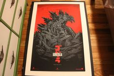 "Phantom City Creative Godzilla Mondo 24"" x 36"" Screen Print Comic Con 2013 SDCC | eBay"