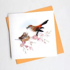 """Outside Copy: Blank Outside Inside Copy: Blank Inside Size: 6""""x6"""" Description: All cards come with a coordinating envelope and a short history of quilling on the back of the card. Square cards require extra postage."""