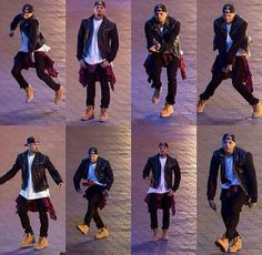 C Breezy! I like his young male adult style. Classic spin on this 90s throwback grunge look