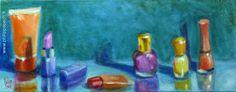 Titre: Féminine 01- Technique : huile sur toile - Format: 50x20 cm - janvier 2015