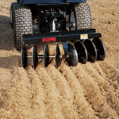This Brinly-Hardy Disk Harrow uses eight 11in. disk blades to turn rough, plowed soil in to uniform, pulverized, plant-ready soil for your garden and landscaping needs. Disk angle can be set at 10°, 15° or 20° to apply the correct amount of pressure needed.