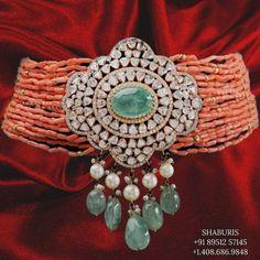 Baby Jewelry, Coral Jewelry, Jewelry Sets, Gemstone Jewelry, Silver Jewelry, Bead Jewellery, Trendy Jewelry, Indian Wedding Jewelry, Indian Jewelry