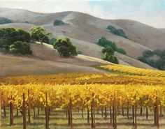 """""""Golden Sanoma Vines"""" by Susan Hoehn- This giclee comes in sizes 16x20 and 8x10"""