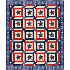 American Quilter's Society - Stars of Honor Quilt Kit - Kits & Patterns