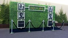 Looking for an alternative to a step and repeat backdrop? Create a stunning display hedge walls a wall of plants and shrubbery with your logos. Artificial Hedges, Wall Backdrops, Backdrop Ideas, Media Wall, Graduation Party Decor, Plant Wall, Flower Wall, Event Decor, Event Ideas