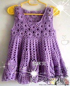 Детское платье крючком из Китая.