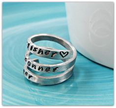 Stacking Ring Personalized ring Mothers ring by JillAllenDesign, $29.00