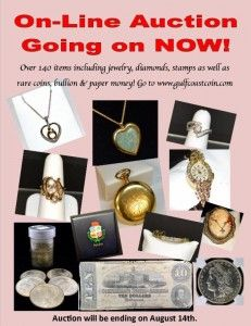 Auctions are going on all the time! See us now!