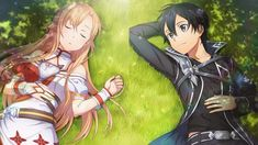 Couple – Kirito and Asuna – Sword art online. Arte Online, Kunst Online, Online Art, Cute Anime Pics, Anime Love, Sao Kirito And Asuna, Desenhos Love, Sword Art Online Wallpaper, Sword Art Online Kirito