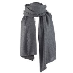 Helsinki scarf 100% cashmere, dark melange grey (€249) ❤ liked on Polyvore featuring accessories, scarves, balmuir, cashmere scarves, grey scarves, grey shawl, gray shawl and cashmere shawl