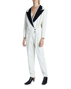 $1890.0. PROENZA SCHOULER Jacket Stretch Suiting Jacket #proenzaschouler #jacket #blazer #clothing Double Breasted Blazer, Tweed Blazer, Proenza Schouler, World Of Fashion, Off White, Normcore, Clothes For Women, Coat, Long Sleeve