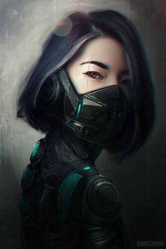 64 Badass Cyberpunk Girl Concept Art & Female Character Designs Cyber Warrior By Sandra Posada Arte Cyberpunk, Cyberpunk Girl, Cyberpunk 2077, Cyberpunk Tattoo, Female Character Concept, Fantasy Character, Character Art, Cyborg Art, Badass