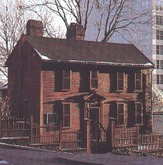 Stephen Hopkins House, Providence, Rhode Island was the home of Governor of Rhode Island, Stephen Hopkins who also was a signer of the Declaration of Independence. My great grandfather. New England Homes, England Houses, Hopkins Homes, Family Genealogy, Genealogy Sites, Stephen Hopkins, My Family History, Declaration Of Independence, Life Pictures