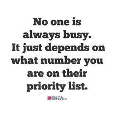 Feelin low priority