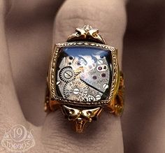 Steam punk ring - When I first looked at this - for a moment I thought it was nail art!