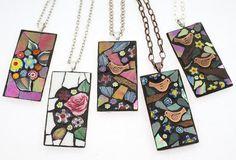 Mosaic pendants - Angela Ibbs Designs