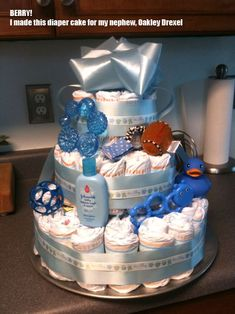 I love making these diaper cakes for baby showers