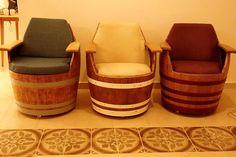 Wine Barrel Armchairs