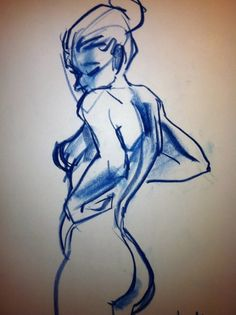 Have always love pen & ink or pencil sketch...for me it captures the beauty of the human form...the lines.