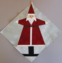 Considering how long I've been cooking this idea for a paper-pieced Santa block (i.e months not hours), you'd think I could've managed to make some headway by now. Alas, I seem to…