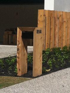 Macro letterbox fence