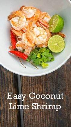 Quick and easy coconut lime shrimp for under 200 calories and only 4 Weight Watchers PointsPlus