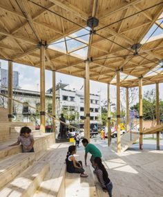 Image 23 of 23 from gallery of House of Switzerland Pavilion / Dellekamp Arquitectos. Photograph by Dellekamp Arquitectos Canopy Architecture, Pavilion Architecture, Modern Architecture House, Architecture Design, Sustainable Architecture, Residential Architecture, Swiss House, Timber Roof, Timber Structure