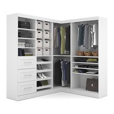 Bestar Closet Organizer 26854 Pur By 82 In Corner Kit