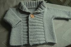 Ribbed Baby Jacket - link to FREE pattern!! - KNITTING