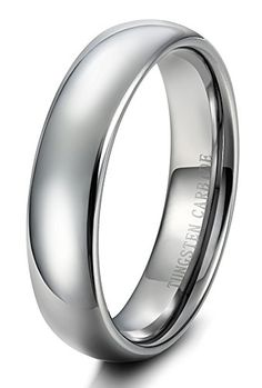 Tungary 6mm Mens Womens Tungsten Carbide Wedding Band Rings Engagement Promise Domed Size 11. High Polished Shiny Surface, Perfect as a Wedding Engagement Band for Men and Women. Width 6mm, Thickness 2.3mm, A Solid Choice for Most Men and Women. Classic Domed Rings, with Super Smooth Inner Face, Comfortable Wearing. Made of Durable and Hardest Tungsten Carbide, Scratch Resistant and Hypoallergenic. Provide with Life-time Guarantee.