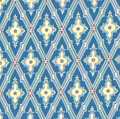 Dolls House   Wallpaper 1/12th or 1/24th scale Quality Paper Blue Miniature…