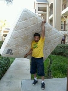 In the City of La Porte removing of mattress  We removed a mattress in La Porte in Houston area in the afternoon this day. The mattress seems not to be used by the owners for a long time because of its foul smell that made it hard for them to remove it by themselves. This job is realle not a joke, but to see the satisfaction in our customers' faces is a great reward for us!!