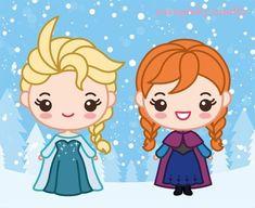 Disney Girls, Baby Disney, Disney Frozen, Disney Art, Frozen Party, Frozen Birthday, Elsa Drawing, Drawing Cartoon Faces, Disney Cookies