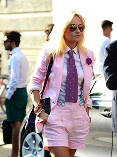 Tendencia: Short Suits - Cranberry Chic