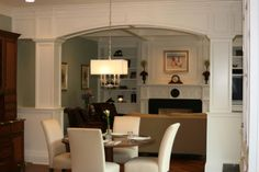 Beams like this. Coffer ceiling like this. possible archways. yep!