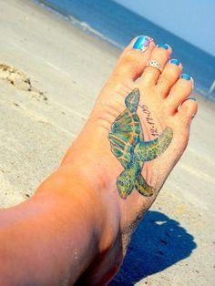sea turtle tattoo and sunflower - Google Search