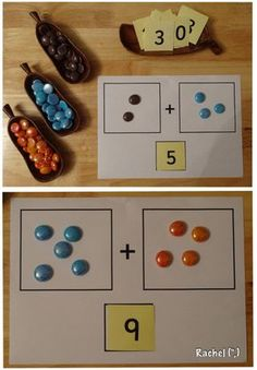 """Glass nuggets and counting mat... from Rachel ("""",)"""