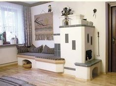 Haacke Haus, Cordwood Homes, Stair Shelves, Living Room Decor, Living Spaces, Rocket Stoves, Cozy Corner, Design Case, My Dream Home