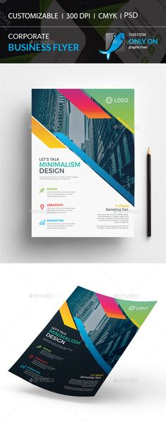 Corporate Flyer by I-Getup Corporate Flyer, Corporate Business, Flyer Layout, Text Fonts, Business Flyer Templates, Information Graphics, Graphic Design Print, Minimal Design, Light In The Dark