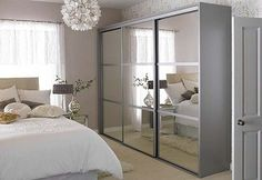 Sliding wardrobe door mirror style3