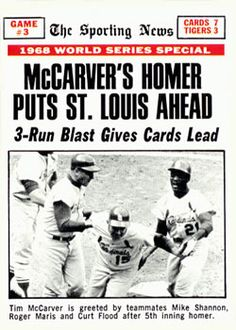 St Louis Baseball, St Louis Cardinals Baseball, Detroit Sports, Detroit Tigers, Old Baseball Cards, Mlb Stadiums, See Games, Shea Stadium, Game 3
