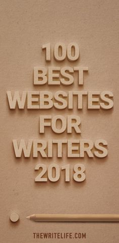 A list of websites for writers 2018