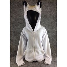 Pawstar Classic Fox Yip hoodie – jacket Ear Arctic Shadow Brown White Black Tan Grey Gray kitsune furry cosplay winter coat snow warm 6157 – Top Of The World Emo Outfits, Cosplay Outfits, Cute Outfits, Fashion Outfits, Ear Jacket, Hoodie Jacket, Grey Hoodie, Mode Collage, Mode Punk