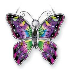 Wow Butterfly Lamp, Butterfly Clip Art, Green Butterfly, Butterflies, Stained Glass Night Lights, Stained Glass Lamps, Carnival Glass, Glass Collection, Suncatchers