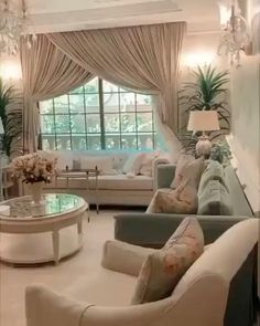 Decor Home Living Room, Elegant Living Room, Living Room Designs, Modern Bedroom Design, Home Room Design, Home Interior Design, Luxury Rooms, Luxurious Bedrooms, Dorm Ideas