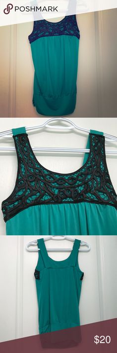 Black and green knitted top. Black and green knitted top. Would be great for work or a date night Studio Y Tops Blouses