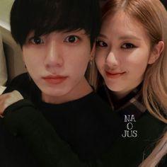 Kpop Couples, Cute Couples, K Pop, Bts Girl, Rose Park, Blackpink And Bts, Jennie Blackpink, Park Chaeyoung, Best Couple